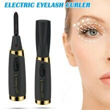 Electric Heated Eyelash Curler Long Lasting Natural Eye lashes Curling Beauty Makeup Eyelash Tools