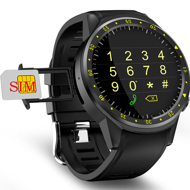 GPS Smart Watch Men With SIM Card Camera F1 Smartwatches Heart rate detection Sport phone connected watch android iOS Clock
