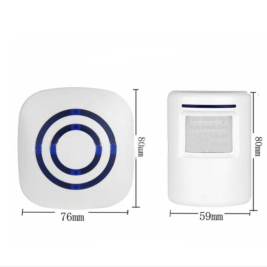Wireless Motion Sensor Chime Kit Door Open Chime Entrance Entry Alert Doorbell, 3 Volume Levels, 38 Songs For Home/Office/Stores