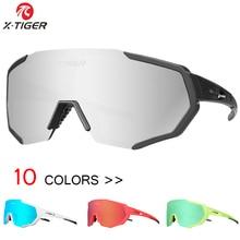 X-TIGER Polarized Sports Cycling Glasses Cycling Eyewear MTB Road Bicycle