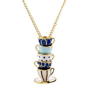 Tea Cup Necklace for Women Art
