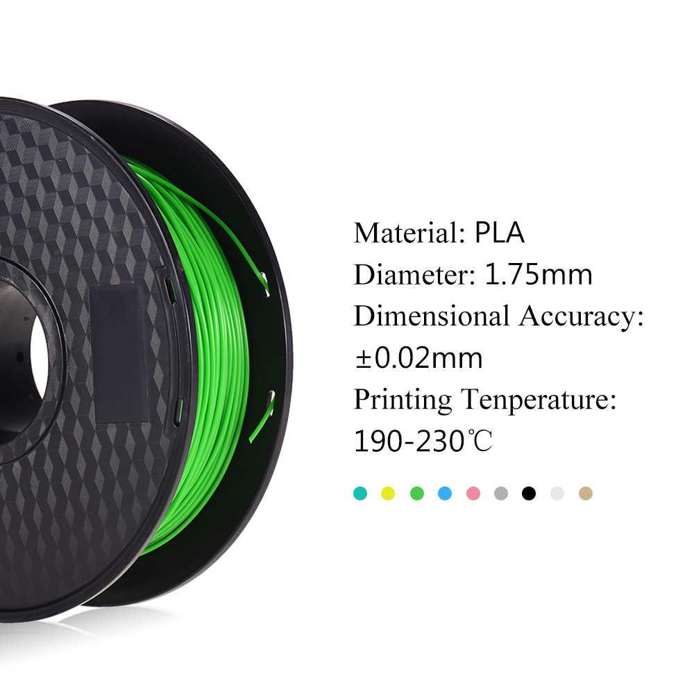 Anet 1,75 мм 3D печать PLA нити трехмерная точность ±0. 02 мм не забивающиеся нити Printing1KG катушка для 3D принтеров