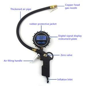 Image 3 - 0 200 PSI misuratore di pressione dei pneumatici manometro Automobile auto camion gonfiatore di pneumatici pneumatici con calibro quadrante Tester
