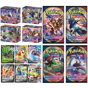 2020 324pcs Pokemon Action Figures Trading Card Game Set Booster Box Sword Shield Vmax New English Edition Tomy Children Toy(China)