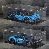 Technology car Acrylic display case box Bugatti Chiron 42083 building block model decool 3368 20001 20086 3388