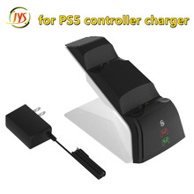 Led Indicator Snel Opladen Dual Slot Dock Charger Station Stand Base Voeding & Ac Adapter Voor PS5 Draadloze Game controller