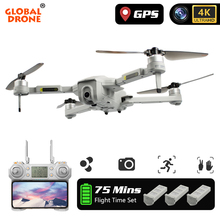 GW90 Quadrocopter GPS Dron 4K Drone with Camera HD Follow Me RC Helicopter Brush