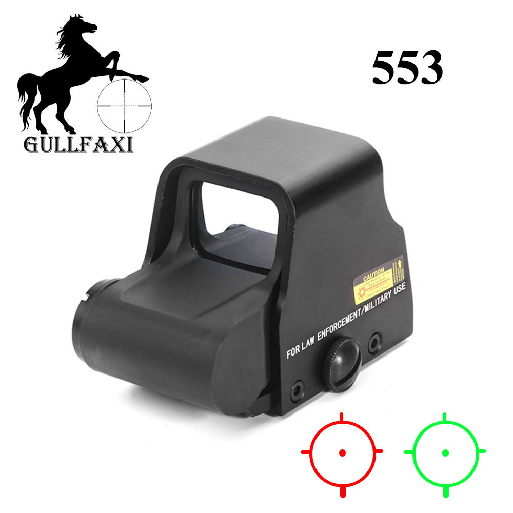 Gullfaxi Optic Sight 553 Holographic Weapon Sight Tactical Red Dot Sight Scope Hunting Outdoor Airsoft Rifle Gun Collimator Sigh