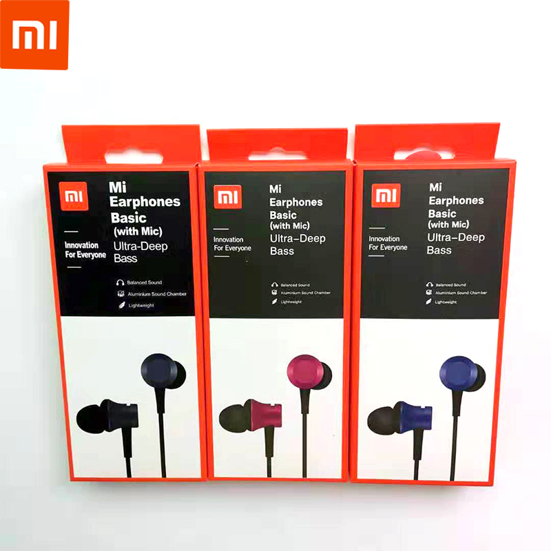 100% Official original xiaomi piston 3 earbuds earphone fresh youth version 3.5mm in-ear headset wire-controlled with Microphone