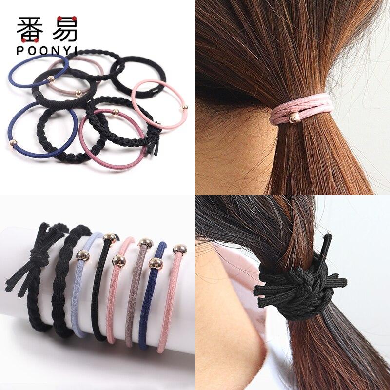 Резинки для волос с золотыми мультяшными бусинами Женские Простые головные уборы аксессуары для волос