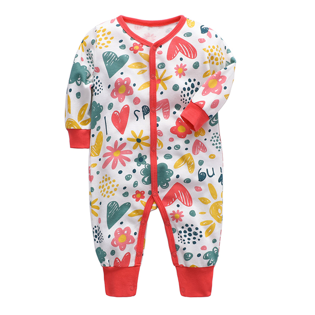 Baby Romper Newborn baby boys girls clothes 3 6 9 12 18 24 months cotton infant jumpsuit toddler kids clothing 2