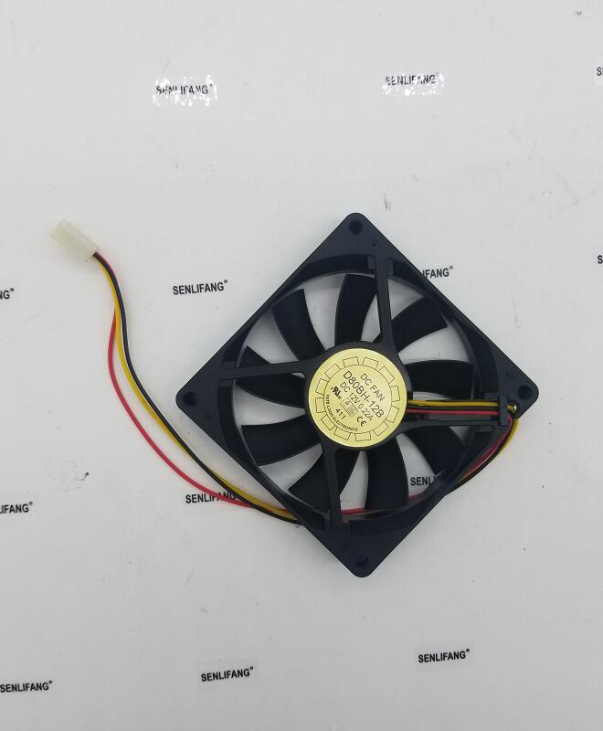 Original Fan D80BH-12B DC 12V 0.22A YaLn 8015 80*80*15mm Cooling Fan