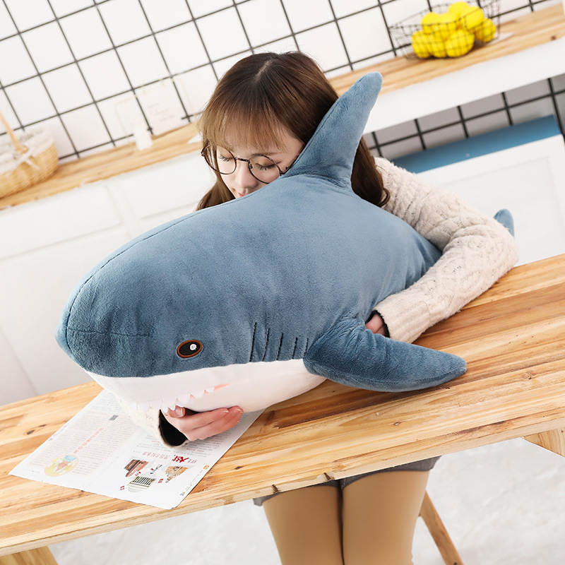 Lifelike Big Shark Plush Toy Russian Shark Stuffed Animals Simulation Cartoon Animals Toys for Girl Soft Plush Pillow Kid Gift image
