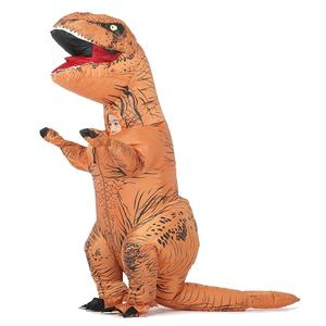 Image 2 - T REX Inflatable Dinosaur Costume for Adult Kids Men Women Halloween Costume Dino Cosplay  Cartoon Anime Party