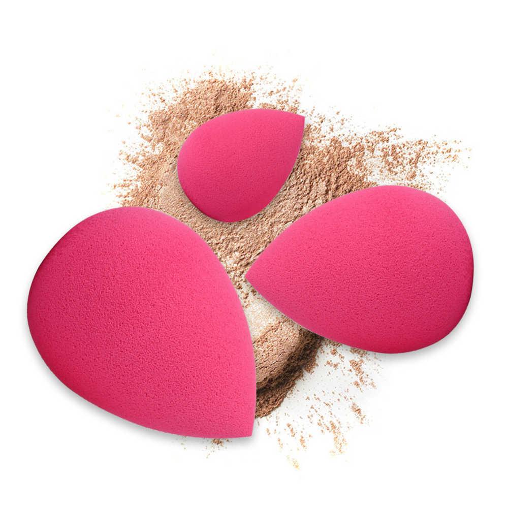 Soft Print Cushion Puff BB Cream Foundation Flutter Makeup Tool Makeup Sponge Black 3PCS