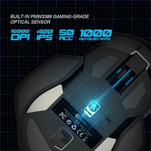 Image 4 - GameSir GM300 2.4 جيجا هرتز ماوس الألعاب اللاسلكية مع استبدال لوحات الجانب المغناطيسي و موازنة ، 16000 ديسيبل متوحد الخواص