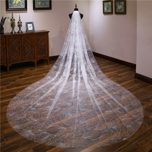 Hot Sale Sparkling High Quality 1 Layer Crystals Wedding Veils With Free Comb White/ Ivory Bridal Accessories Cheap