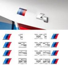 Pegatinas de Metal 3D para coche, molduras de estilo estándar M para BMW X1X3X5X6 1 3 5 Series ABS, emblema trasero de decoración, accesorios exteriores