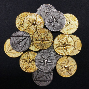 Satanic Lucifer Morning Star Coin Cosplay Pentecost Alloy Metal Coins Fan Collection Gift Costume Props logitech m238 fan collection argentina