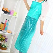 Прозрачный кислотостойкий домашний ПВХ простой анти-Масляный Водонепроницаемый Кухонный Фартук в горошек случайный цвет# EW