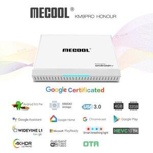 Image 3 - 2020 Androidtv 9.0 certyfikat Google KM9 PRO 4GB 32GB Android 9.0 TV, pudełko Amlogic S905X2 wsparcie Youtube 4K podwójny zestaw Wifi Top Box