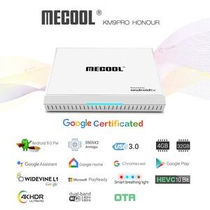 Image 3 - 2020 androidtv 9.0 google certified km9 pro 4 gb 32 android 9.0 caixa de tv amlogic s905x2 suporte youtube 4 k duplo wifi conjunto caixa superior