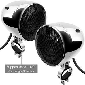 Image 5 - Aileap 1000W de Audio para motocicleta sistema de altavoces amplificador de 4 canales, soporte Bluetooth, AUX, Radio FM, tarjeta SD, USB Stick (cromo)