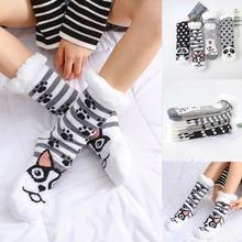 Женские зимние носки мягкие теплые удобные размытые рождественские толстые носки с флисовой подкладкой подарки с вьетнамками, милые женские носки FD