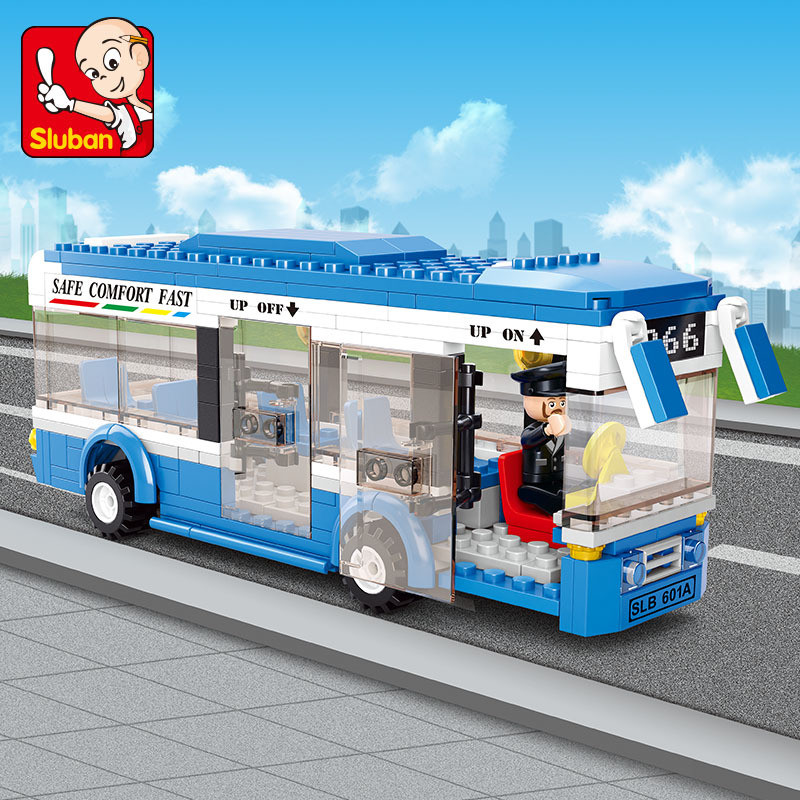 235Pcs City Bus Car Building Blocks Set LegoINGs Juguetes Technic Playmobil Bricks Figures Friends Educational Toys For Children