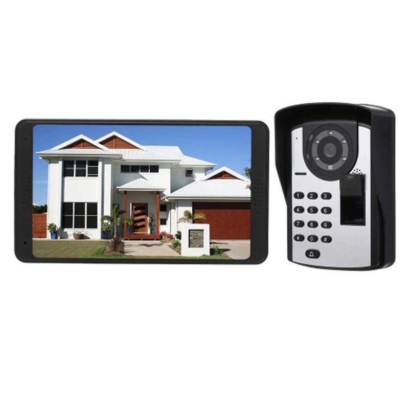 Wifi Wireless Video Door Phone Doorbell Intercom System Fingerprint Password APP Remote Control 7 Inch Monitor