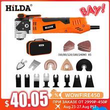 HILDA-Serra eléctrica oscilante multifunción, multiherramienta oscilante, herramienta de renovación, uso doméstico y para carpintería