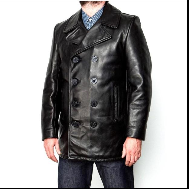 Clothing Cow Long Jackets Men's Genuine Leather Black Casual Jacket Fashion Classic