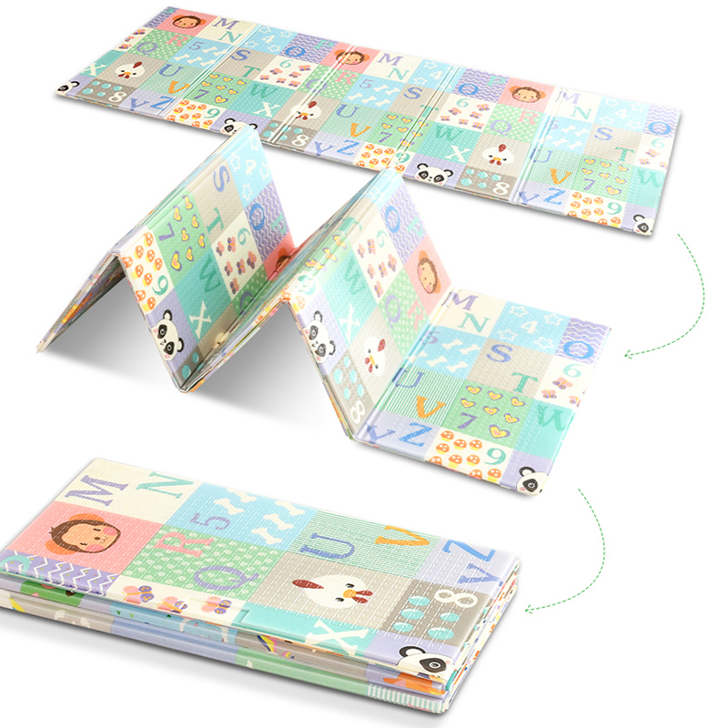 200*150*1cm Baby Play Mat Folding Baby Care XPE Playmat Non-Toxic Carpet Non-Slip Reversible Kids Rug  Activity Gym Game Toys