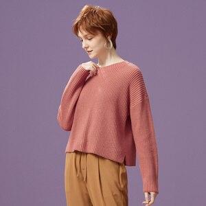 Image 4 - Metersbonwe 綿ニットセーター女性プルオーバータートルネック秋冬基本女性 sweatersr ローズピンクルーズフィット