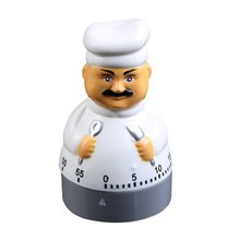 Creative Kitchen Timer Machinery Chef Alarm Clock Electronic Timer Customized Gift Without Battery Temporizador de cozinha cute animal model kitchen timer mechanical alarm clock without battery reminders timer 7 8 7 2cm free shipping