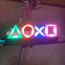 For PS4 Game Icon Lamp Neon Sign Sound Control Decorative Lamp Colorful Lights Game Lampstand LED Light Bar Club KTV Wall Decor(China)