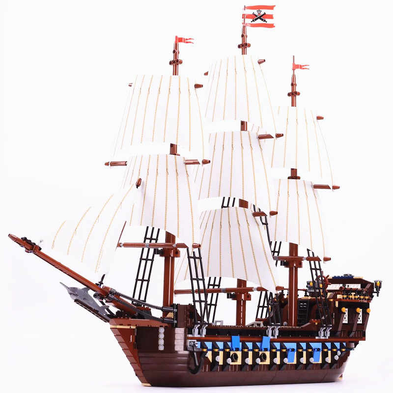 22001 16006 Pirati dei caraibi the Black Pearl Nave Building Block film 4184 10210 mattoni Giocattolo Chirstmas Imperiale di Punta