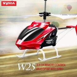 Syma officiel W25 RC hélicoptère 2 CH 2 canaux Mini RC Drone avec gyroscope résistant aux chocs RC jouets pour garçon enfants cadeau rouge jaune