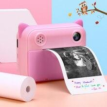 Chico impresión instantánea Cámara niño foto de cámara Digital de 2,4 pulgadas de pantalla de los niños juguete para regalo de Navidad de cumpleaños