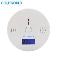 lcd CO датчик работает в одиночке встроенный 85 дБ сирена звук независимый Угарный газ травление Предупреждение детекторы сигнализации