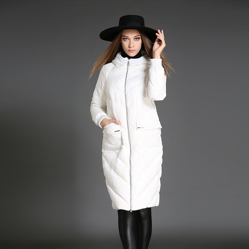 2020 Quality High Women White Duck Down Jacket Hooded Winter Coat Women's Jackets Female Warm Parka Mujer Inverno WXF232 's S
