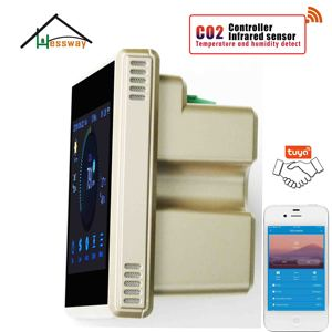 Image 5 - HESSWAY TUYA Nather NDIR CO2 גלאי wifi רגולטור אוויר באיכות עבור בתי חולים בתי ספר בית