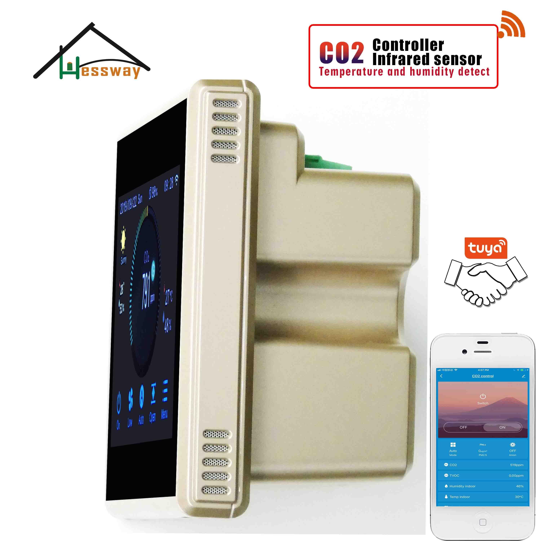 Image 5 - Hessway tuya app rs485 & modbus analisador de gás infravermelho detector sensor co2 para controlador do sistema arAnalisadores de gás   -
