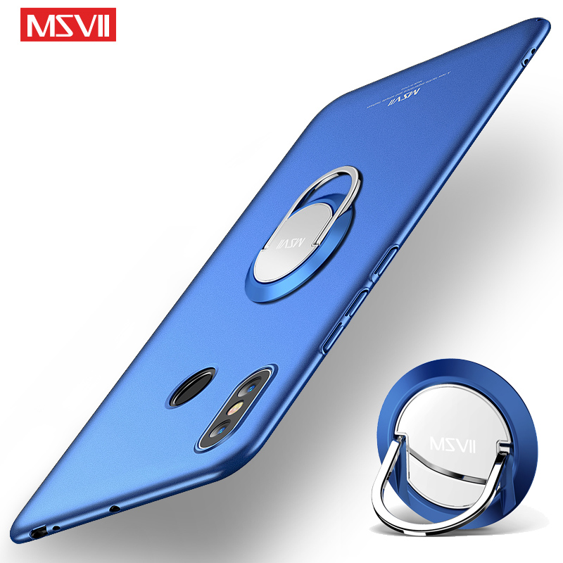 <font><b>Mi</b></font> Max 3 Case MSVII Finger Ring Frosted Case <font><b>Xiaomi</b></font> <font><b>Mi</b></font> Max 2 3 Xiomi Metal Holder Cover For Xiami <font><b>Mi</b></font> <font><b>Max3</b></font> Max 3 <font><b>Pro</b></font> Phone Cases image