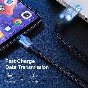 Ugreen USB Type C кабель для Xiaomi Poco x3 USB C кабель для Samsung S9 Быстрая зарядка провод для передачи данных телефонный зарядный шнур для Huawei P40