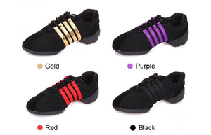 Image 4 - Dance Sneakers For Women Girls Sports Modern Dance Jazz Shoes Lace Up Lightweight Breath Fitness Trainers Practice Shoes