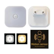 2021 luz da noite com plugue da ue inteligente sensor de movimento led noite lâmpada parede plugue luz wc lâmpada de cabeceira para corredor caminho a8