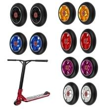2PCS 100/110mm Multi Stil Stunt Scooter Aluminium Räder Hohe elastische Verschleiß beständig PU Mit 608 ABEC 9 Lager Skates Räder