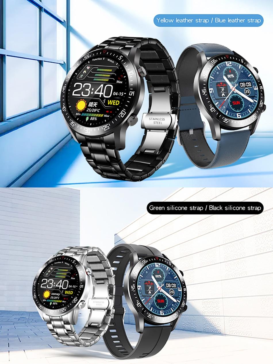 H3e70461f0ea643b981dd6ab8534fdd9d4 LIGE 2021 New Full circle touch screen Mens Smart Watches IP68 Waterproof Sports Fitness Watch Man Luxury Smart Watch for men