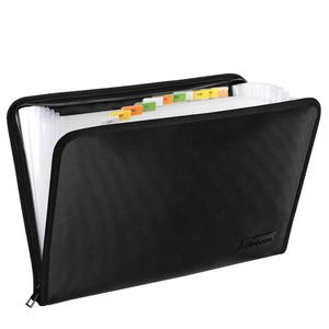 Image 1 - Fireproof Waterproof Document Bag A4 Size Money Bill File Folder Bag 13 Pockets Zipper Closure Silicone Coated Filing Pouch